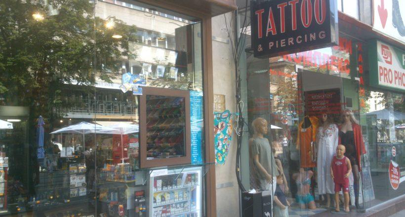 Светеща кутия Tattoo&Piercing