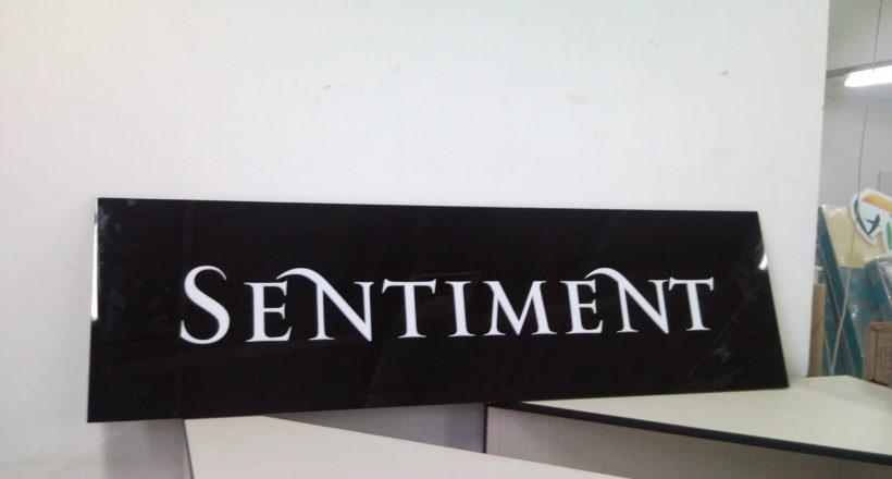 Рекламна табела Sentiment